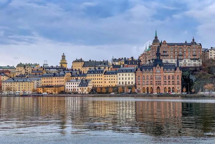 krajobraz szwedzkiego miasta